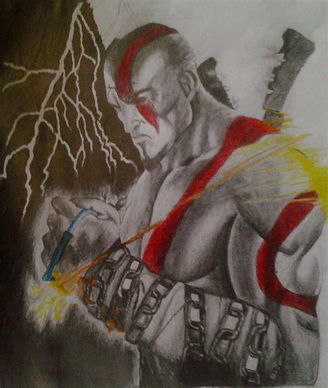 imagenes de kratos para dibujar faciles kratos god of war dibujo propio taringa