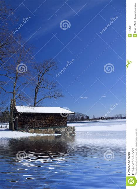 Frozen Cabin by Cabin On Frozen Lake Stock Images Image 4251294