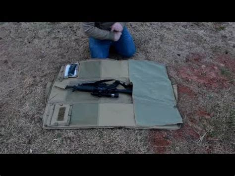 ncstar rifle with shooting mat and a condor shoulder