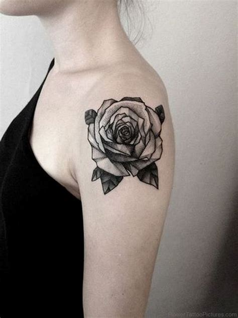 black flower tattoo 73 great vintage flower tattoos on shoulder
