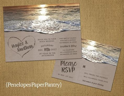 Wedding Invitations Hawaii by Wedding Invitation In The Sand