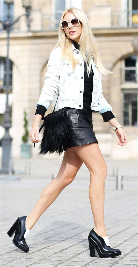 style staple the leather mini skirt just the design