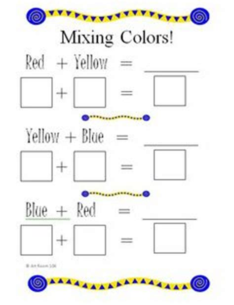 elementary color theory on color wheels color wheel worksheet and lessons