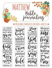 scripture journal templates matthew 4 bible journaling printable templates