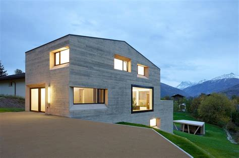 house with wood look concrete covering modern house designs