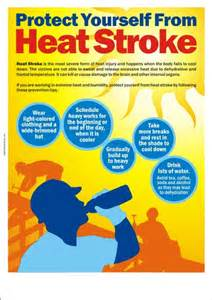 Heat safety poster protect yourself from heat stroke safety poster