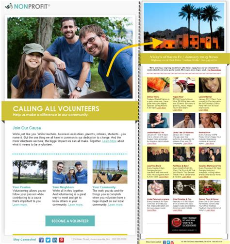 10 Great Looking Mobile Friendly Email Template Exles Constant Contact Constant Contact Templates
