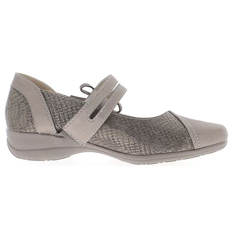 shoes 4 comfort shoes comfort woman grey silver to heel 4 cm chaussmoi