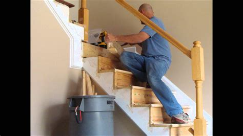 how to remove stair banister stair and rail renovation spring 2012 youtube
