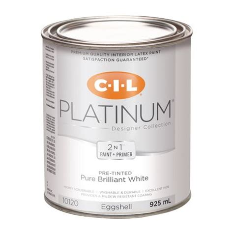 cil 174 platinum 174 interior paint pre tinted brilliant white 925 ml walmart ca