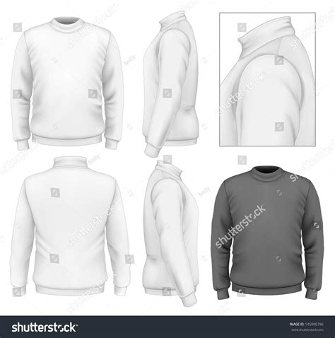 Photorealistic Vector Illustration Mens Sweater Design Stock Vector 145990796 Shutterstock Sweater Design Template