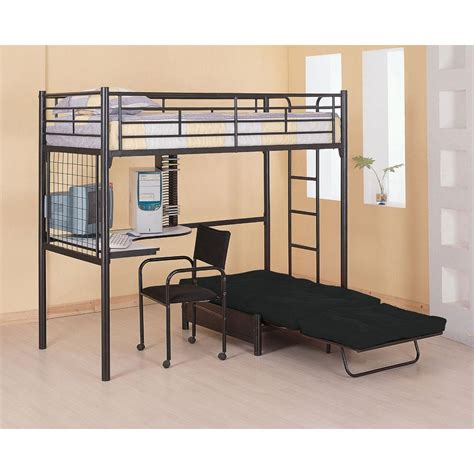 Twin Loft Bunk Bed With Futon Chair Desk