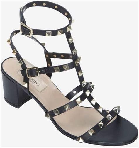 black chunky gladiator sandals valentino rockstud gladiator mid chunky heel sandal black
