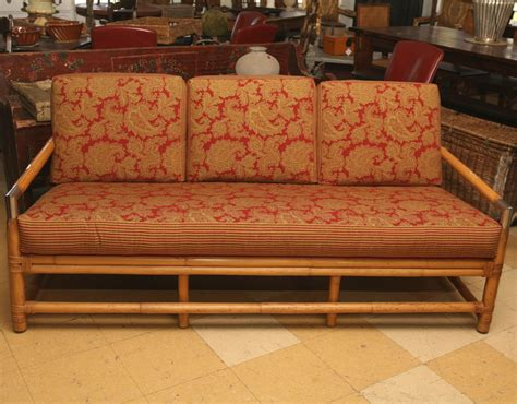 bambo sofa mid century ficks reed bamboo sofa and table omero home