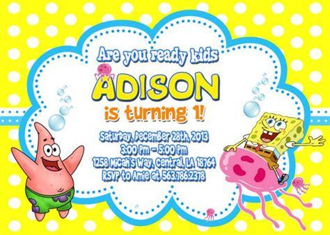 spongebob layout invitation spongebob birthday party invitation by fantasticinvitation