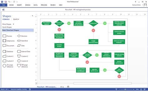 ms visio flowchart process flowchart conceptdraw pro compatibility with ms