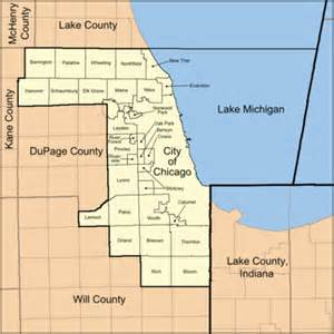 Chicago County Map by Cook County Wow Com