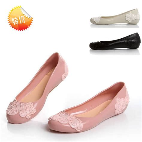 jelly shoes flats jelly shoes flower s shallow flats
