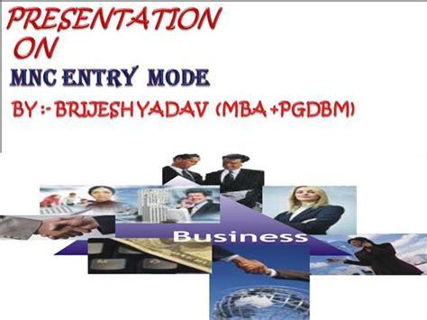 Mba Mnc by Mnc Entry Mode Brijesh Yadav Authorstream