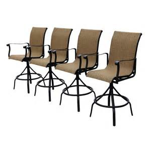 allen and roth chairs allen roth safford sling seat swivel bar chairs set of