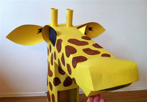 How To Make Giraffe With Paper - paper engineered costumes canvas to the