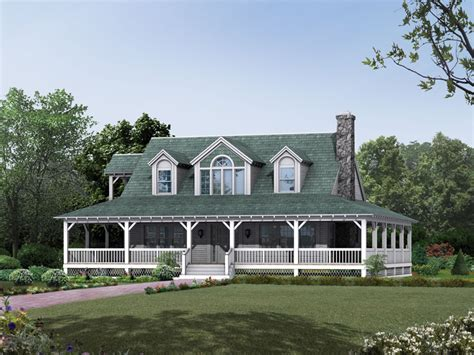 country home with wrap around porch