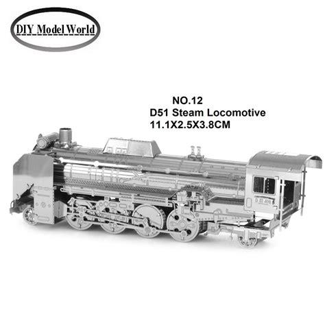 Puzzle 3d Metal Japanese Locomotive D 51 Miniatur Lokomotif Klasik buy wholesale steam locomotive kit from china steam
