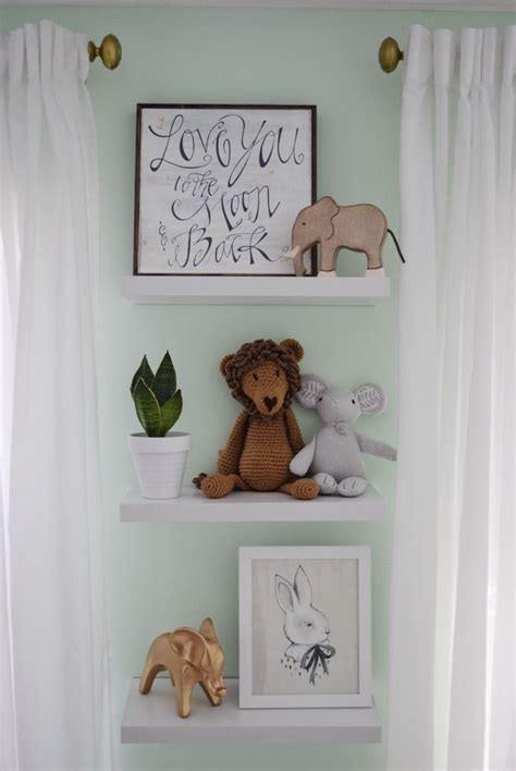 Nursery Decor Shelves Thenurseries Baby Nursery Wall Decor Ideas