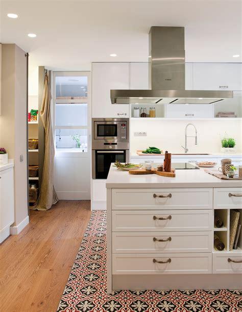 carreaux de cuisine cuisine avec carreaux de ciment mariage de styles