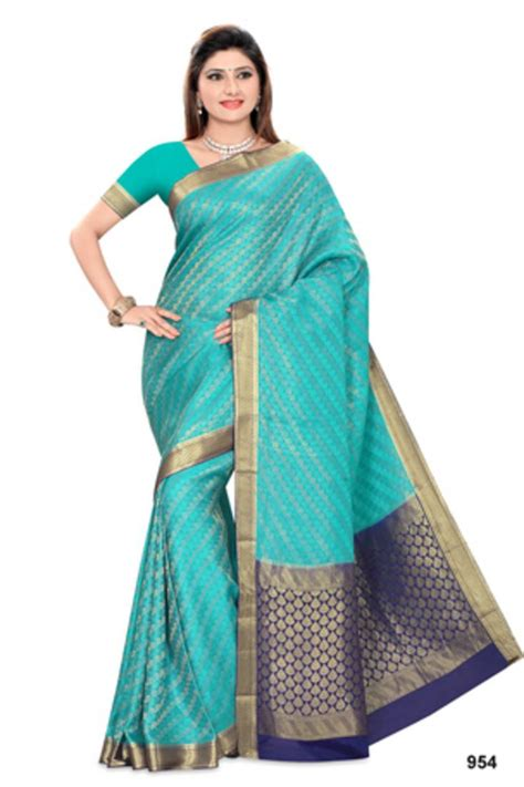 buy ananda pure crepe saree with blouse