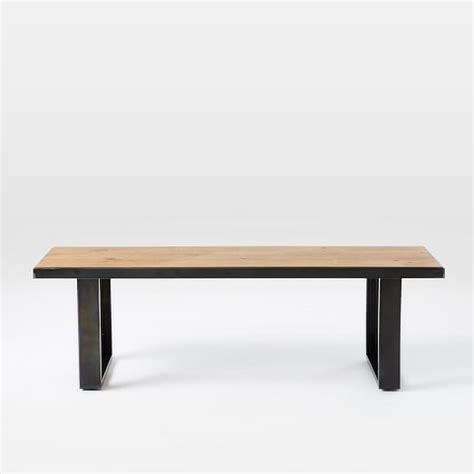 industrial dining bench industrial oak steel dining bench west elm