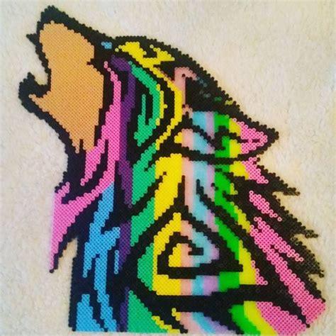 perler bead wolf wolf perler by nicolebe85 perler creations