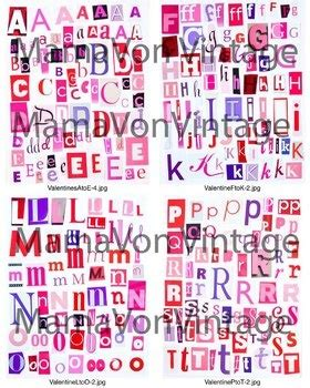 printable magazine letters for literacy station 11 best valentine love hearts theme images on pinterest