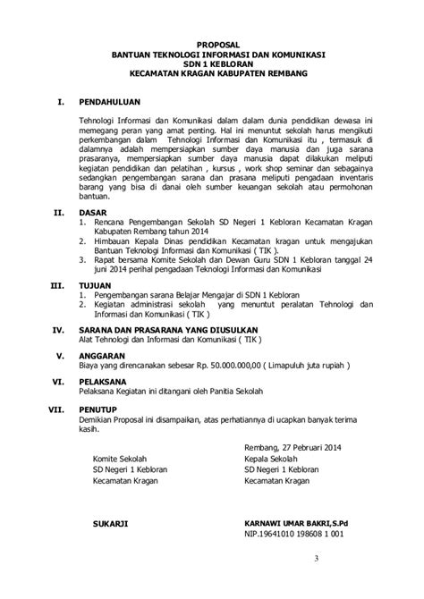 format proposal bantuan dana pendidikan contoh proposal pengadaan meubeleir sekolah download lengkap