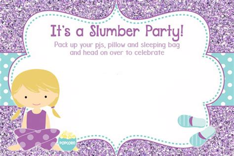 50 Beautiful Slumber Party Invitations Kittybabylove Com Sleepover Invitation Template Word