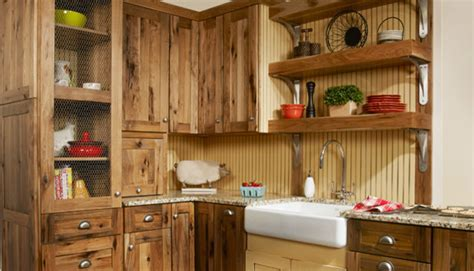 rustic hickory kitchen cabinets Kitchen Traditional with beach house built in   beeyoutifullife.com