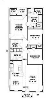 narrow home floor plans hannafield narrow lot home plan 087d 0013 house plans