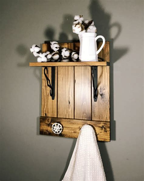 rustic bathroom towel racks rustic bathroom shelf bathroom towel rack kitchen towel