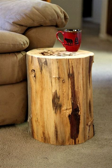 sale wood stump table tree stump table  bessiescreations