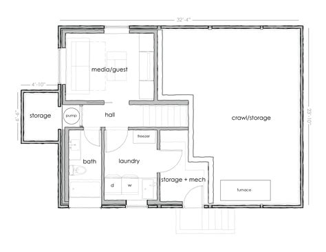 basement plan basement house plans c 511 unfinished basement floor plan from creativehouseplanscom house plan