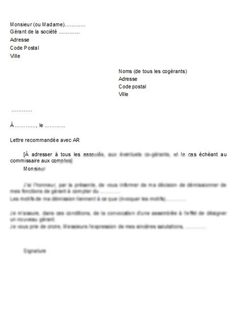 Exemple De Lettre De Démission Cdi Sans Préavis Application Letter February 2016