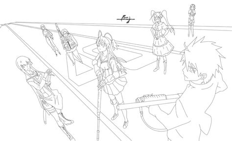highschool of the dead coloring pages highschool of the dead lineart by pyrofxk on deviantart