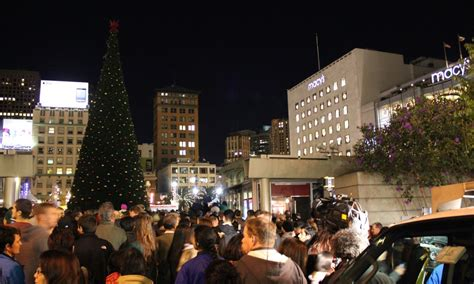 when is the tree lighting in san francisco photos 2012 san francisco union square macy s