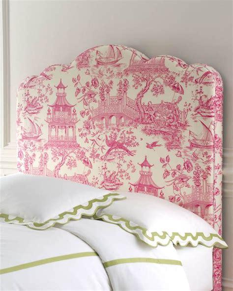 toile headboard neiman marcus headboard in pink toile interiors