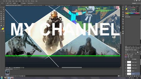 Free Gaming Channel Banner Template Youtube Template Youtube Free Channel Banner Template
