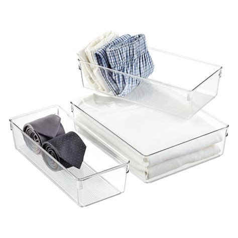 Linus Drawer Organizers by Linus Closet Drawer Organizers The Container Store