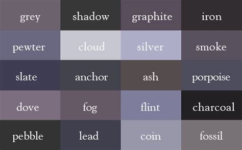 color thesaurus imagine color names correctly with the help of color