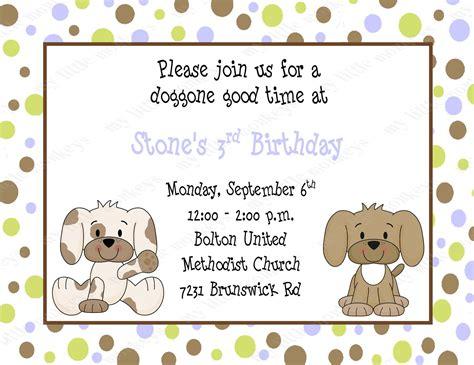 10 Puppy Birthday Invitations With Envelopes Free Return Puppy Invitation Template