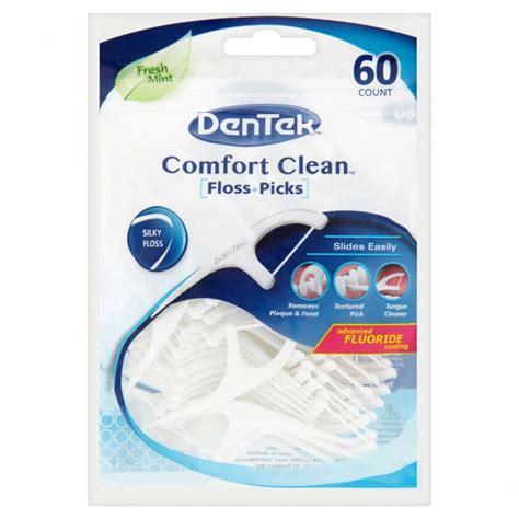 dentek comfort clean floss picks dentek comfort clean 60 floss picks 1 2 3 6 packs ebay