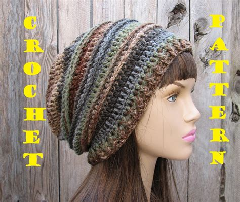 crochet hat crochet pattern crochet hat slouchy hat crochet pattern pdf easy great for